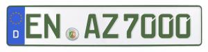 grünes autokennzeichen, grünes autokennzeichen kaufen, grünes autokennzeichen online kaufen